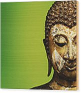 Buddha Portrait  Wood Print by Thanes