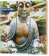 Buddha Quotes Wood Print