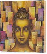 Buddha. Rainbow Body Wood Print
