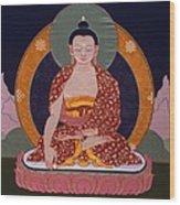 Buddha Shakyamuni Wood Print by Leslie Rinchen-Wongmo