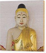 Buddha Statue In Thailand Temple Altar Wood Print