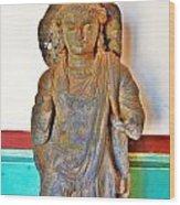 Ancient Buddha Statue - Albert Hall - Jaipur India Wood Print