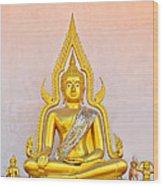 Buddha Statue Wood Print by Keerati Preechanugoon