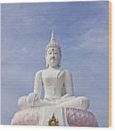 Buddha Statue Wood Print by Tosporn Preede