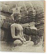 Buddha Sukhothai Thailand 5 Wood Print
