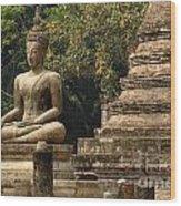 Buddha Sukhothai Thailand 6 Wood Print