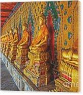 Buddhas At Wat Arun, Bangkok Wood Print