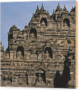 Buddhas Of Borobudur Wood Print