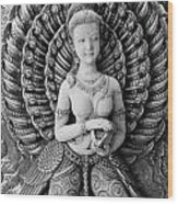 Buddhist Carving 02 Wood Print