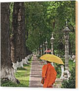 Buddhist Monk 01 Wood Print