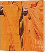 Buddhist Monks 02 Wood Print