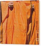 Buddhist Monks 03 Wood Print