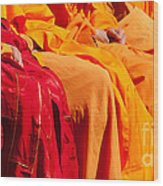 Buddhist Monks 04 Wood Print by Rick Piper Photography