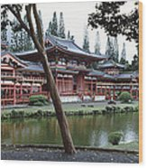 Buddhist Temple, Byodo-in Temple Wood Print
