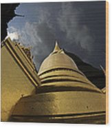 Buddhist Temple In Bangkok Thailand Buddhism  Wood Print