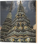 Buddhist Temple In Bangkok Thailand Buddhism Wat Po Wood Print