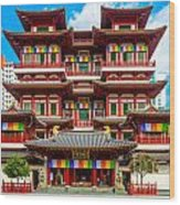 Buddhist Temple In Singapore Wood Print