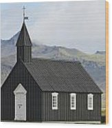 Budir Church Stadarsveit, Snaefellsnes Wood Print