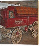 Budweiser Anheuser Busch Wagon Wood Print