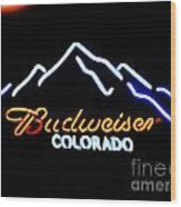 Budweiser In Colorado Wood Print