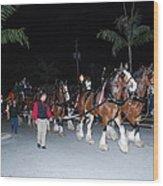 Budwiser Clidsdale Horses Wood Print