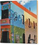 Buenos Aires Caminito Famous Iron Painting Wood Print