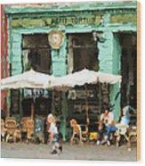 Buenos Aires Caminito restaurant PETIT TORTUS Painting Wood Print