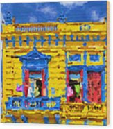Buenos Aires Caminito Yellow House From 1902 Painting Wood Print