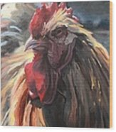 Buff Orpington Cockerel Wood Print