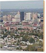Buffalo And Niagara Falls Skylines Wood Print