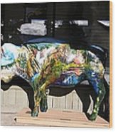 Buffalo Art Wood Print