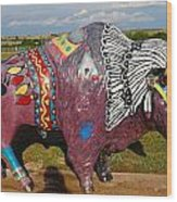 Buffalo Artwork Wood Print