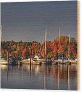 Buffalo Bay Marina 1 Wood Print