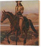 Buffalo Bill On Charlie Wood Print