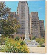Buffalo City Hall Wood Print