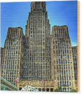 Buffalo City Hall Wood Print by Tammy Wetzel