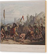 Buffalo Dance Of The Mandan Indians Wood Print