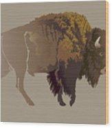 Buffalo. Hand-drawn Illustration Wood Print