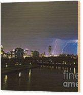 Buffalo Lightning Wood Print