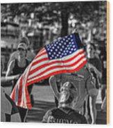 Buffalo Marathon 2013 Respect Wood Print