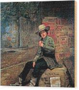 Buffalo Newsboy Wood Print