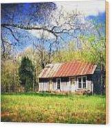 Buffalo River Homestead Wood Print