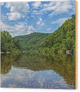 Buffalo River Majesty Wood Print by Bill Tiepelman