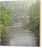 Buffalo River Mist Horizontal Wood Print