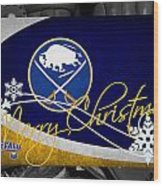Buffalo Sabres Christmas Wood Print