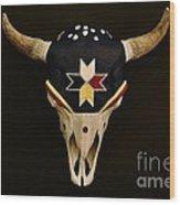 Buffalo Skull Wood Print
