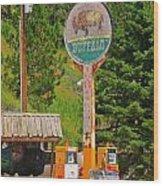 Buffalo Trading Post Wood Print