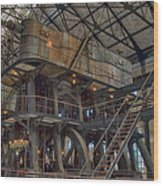 Buffalo Water Pumping Station Wood Print