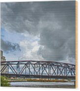 Buffalo's Ohio Street Bridge Wood Print