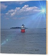Bug Light In Plymouth Ma Wood Print